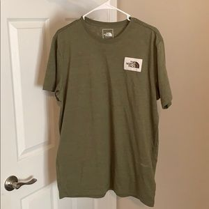 North Face Short Sleeve Green Shirt